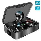 Bluetooth Kopfhörer in Ear, YONMIG Kabellos Bluetooth 5.0 Headset mit 3000mAh Ladebox Wireless Noise Cancelling Earbuds 150H Stunden Spielzeit Sport Wasserdicht IPX7 Ohrhörer mit Mikrofon (Weiß)