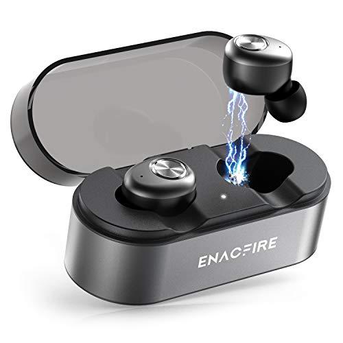 Bluetooth Kopfhörer, ENACFIRE E18 Plus Bluetooth 5.0 In-Ear Sport Kabellose Ohrhörer mit eingebautem Mikrofon, 48h Spielzeit APTX HD-Klangqualität Wireless Charging CVC8.0 , IPX8