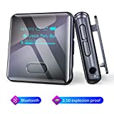 Wiwoo MP3 Player, 16GB Bluetooth Uhr MP3 Player mit Clip Schrittzähler Radio Sprachaufnahme, Sport Audio Musik Player Speicher Erweiterbar bis zu 128 GB (U3)