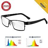 KLIM Protect - Brillen der neuen Generation - Schützen Sie Ihre Augen vor dem schädlichem blauem Licht von Bildschirmen - Anti-Müdigkeit, Anti-Blaulicht, UV-Schutz - Für PC, Smartphone, TV, Tablet