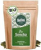 Bio Sencha Grüntee (1000g, Bio) - Top Japan-Style Sencha - 1kg-Spitzenpreis - Mild, leicht grasig, dabei feinherb und blumig - Fairbiotea-Zertifikat - DE-ÖKO-005 - GP: € 2,09/ 100g