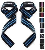 Fitgriff® Profi Zughilfen (gepolstert) für Krafttraining, Fitness & Bodybuilding - Lifting Straps - für Frauen und Männer