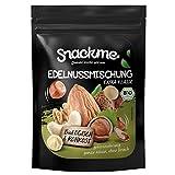 Bio Paleo Edel-Nussmischung Nervennahrung Nussmix Nusskernmischung Mixed Nuts Mix organic 1000g / 1kg Großpackung Rohkost roh ungeröstet ungesalzen naturbelassen unbehandelt halal koscher vegan