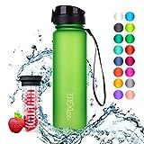 """720°DGREE Trinkflasche """"uberBottle"""" - 1 Liter, 1000ml, Grün, Gruen - Neuartige Tritan Wasser-Flasche - Water Bottle BPA Frei - Ideale Sportflasche für Kinder, Fitness, Fahrrad, Sport, Fussball"""