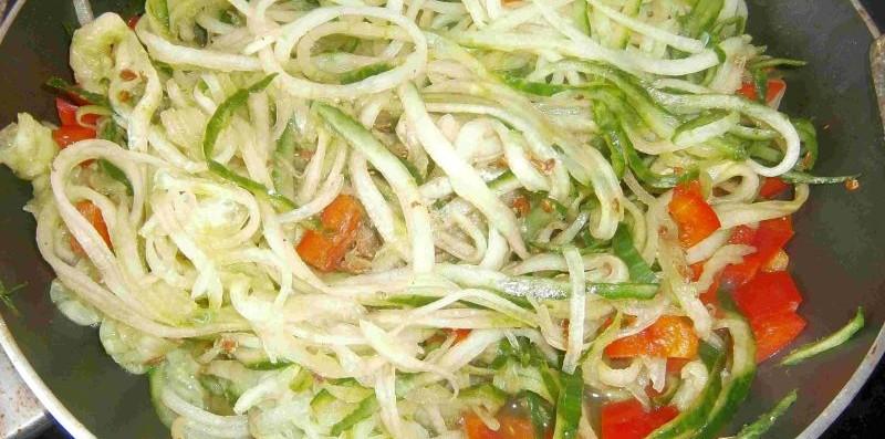 Gemüse-Spaghetti Spiralschneider Rezept
