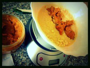 Protein Erdnussbutter Cookies Zubereitung