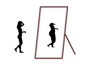 skinny fat spiegelbild waage