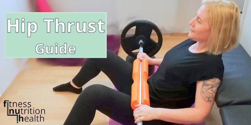 Hip Thrust Ausführung Übung zuhause fiinuh